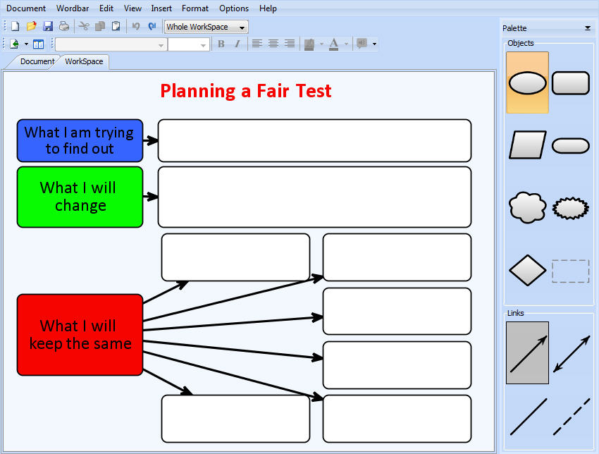 Fair test resource graphic organiser chart