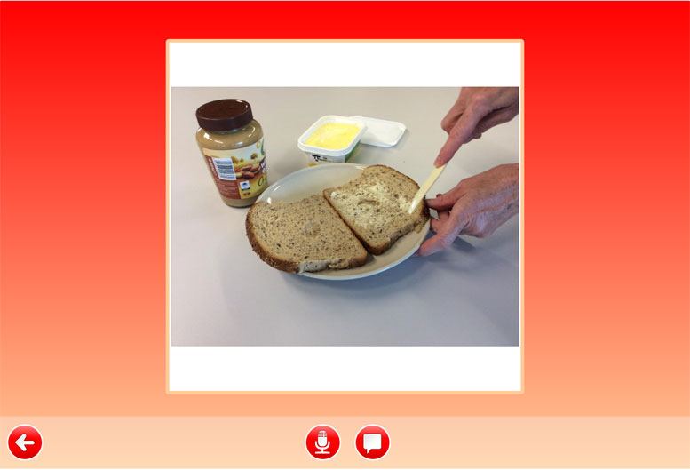 Tell the Story activity - making a sandwich