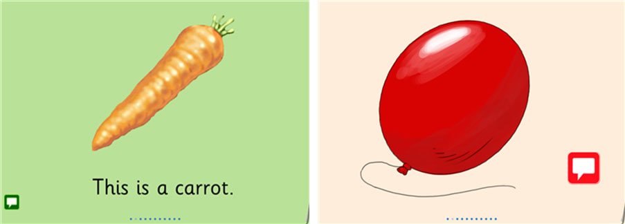 A carrot and a red balloon