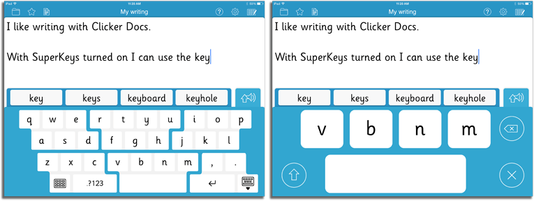 SuperKeys example