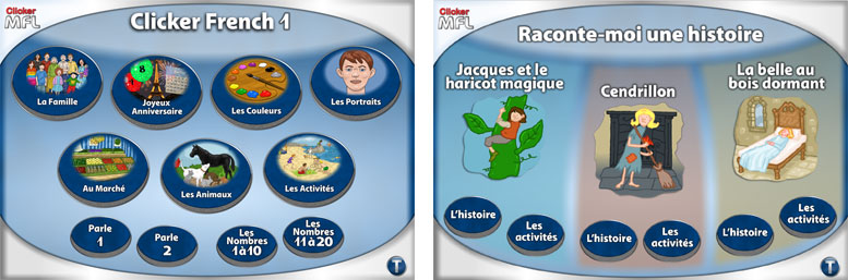 Clicker French activities