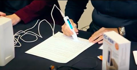 C-Pen Exam Reader being used in an exam setting.