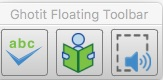 Ghotit Floating toolbar