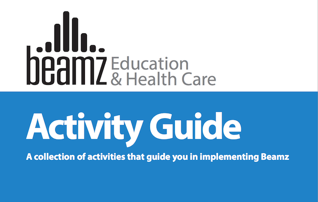 Screenshot of the first page of the Beamz Education and Health Care Activity Guide