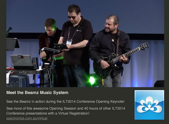 Image of the band in action at the Opening Session of the ILT2014 Conference in May 2014.