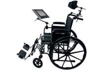 Connect Case for iPad mounted on a wheelchair
