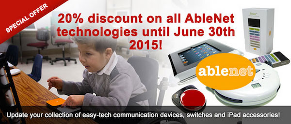 Banner showing AbleNet Easy-tech technologies announcing 20% discount until June 30th