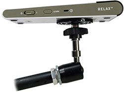 Relax Learning Remote on the end of an AbleNet Mount