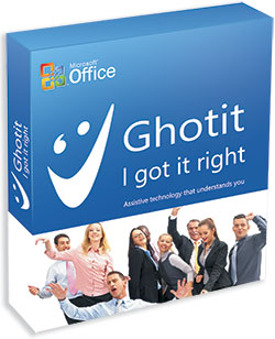 Ghotit Real Writer & Reader product box