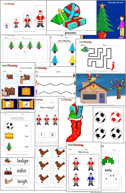 Lots of SwitchIt! Christmas Extra activities