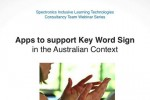 Apps to Support Key Word Sign in the Australian Context