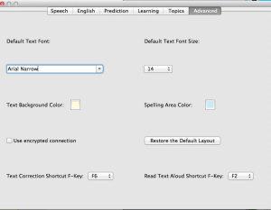 Ghotit-5 advanced settings